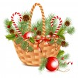 Christmas basket. — Stock Vector #33425793