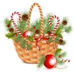 Christmas basket. — Stock Vector