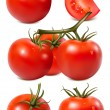 Tomatoes with water drops. — Stock Vector
