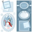 Set of Christmas frames — Imagen vectorial