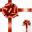 Gift red ribbon and bow — Stock Vector