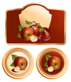 Photo-realistic vector apples. — Stock Vector