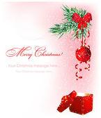 Christmas snowy background — Stock Vector