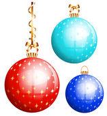 Vektor-Weihnachtskugel. — Stockvektor
