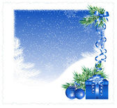 Christmas snowy background — Stock Vector
