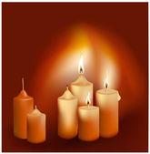 Brandende kaarsen — Stockvector