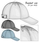 野球帽のイラスト. — ストックベクタ