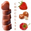 Heart-shaped chocolates — Imagen vectorial