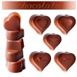 Heart-shaped chocolates. — Stock Vector