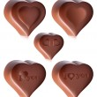 Heart-shaped chocolates. — Imagen vectorial
