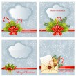 Set of snow Christmas background  — Stock Vector