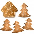 Stock Vector: Gingerbread cookies