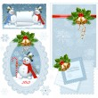 Set of Christmas frames. — Imagen vectorial