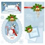 Set of Christmas frames. — Stock Vector