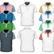 图库矢量图片: Men's polo-shirt design