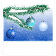 Christmas snowy background — Stock vektor