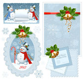 Set of Christmas frames. — Stock Vector