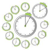 Conjunto de cronômetros de vetor — Vetorial Stock