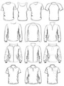 Collection of men clothes — Stock Vector