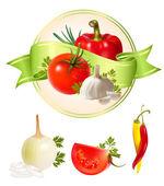 Illustration of vegetables. — Stock Vector