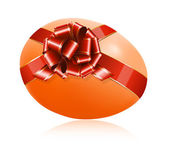 Easter egg with red ribbon. — Stock Vector