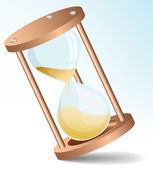 Vector sand clock — Stock Vector