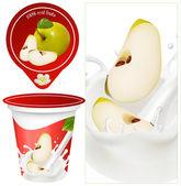 Design of packing yogurt — Stock Vector