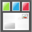 Letter with postage stamp. — Stock Vector