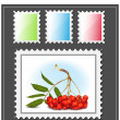 Stock Vector: Postage stamp.
