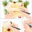 Vector de stock : Letter to Santa Claus.