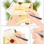 给圣诞老人的信 — 图库矢量图片