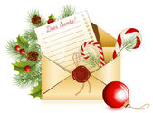 Christmas mail. — Vettoriale Stock