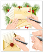 Letter to Santa Claus. — Stock Vector