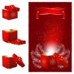 Christmas gift box. — Stock Vector