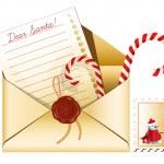 Christmas mail. — Stock Vector