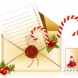 Stock Vector: Letter to Santa.