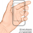 Hand holding mobile phone. — Stockvectorbeeld