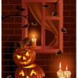 Halloween night. — Vector de stock #33522425