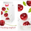Stock Vector: Design of packing yoghurt