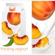 Design of packing yogurt — Stock Vector