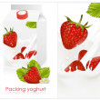Stock Vector: Design of packing yogurt