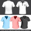 Stock Vector: Polo shirt design