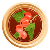 Packing jam jar — Stock Vector