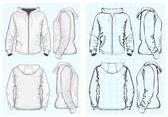 Men's hooded sweatshirt — Stock Vector