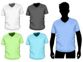 Men's v-neck t-shirt — Stock Vector