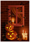 Halloween night. — Stock Vector