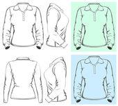 Projekt koszulki polo damskie — Wektor stockowy