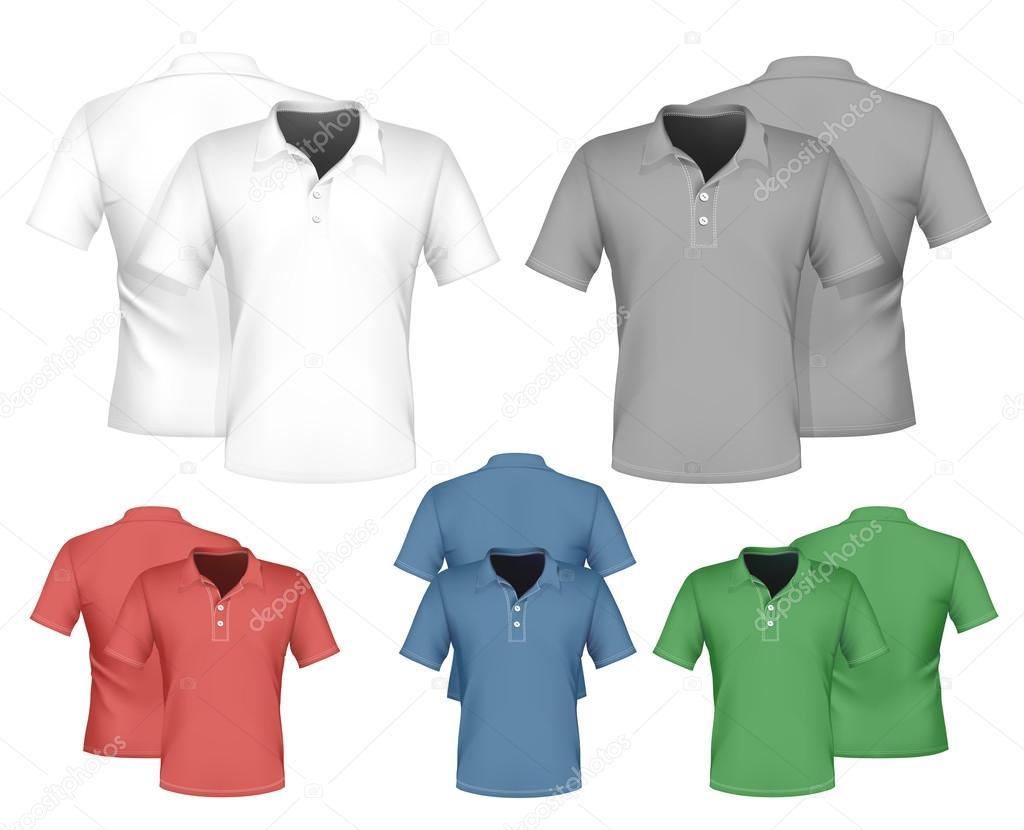 Polo shirt design vector - Men Polo Shirt Design Stock Vector 33524125