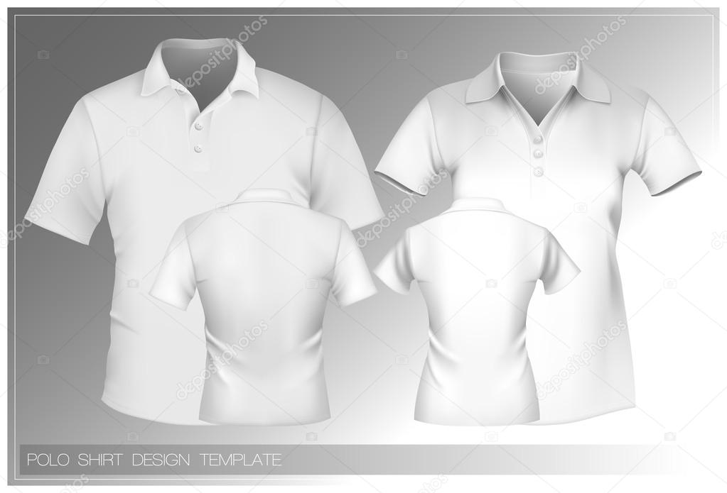 polo shirt design template stock vector ivelly 33524581. Black Bedroom Furniture Sets. Home Design Ideas
