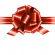 Gift red ribbon and bow — Vector de stock #33589117